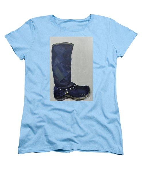 Biker Boot Women's T-Shirt (Standard Cut) by Marisela Mungia