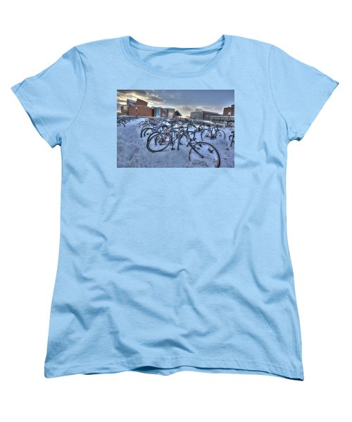 Bikes At University Of Minnesota  Women's T-Shirt (Standard Cut) by Amanda Stadther