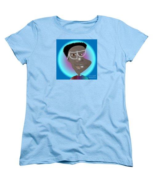 Women's T-Shirt (Standard Cut) featuring the drawing Bill Cosby by Iris Gelbart