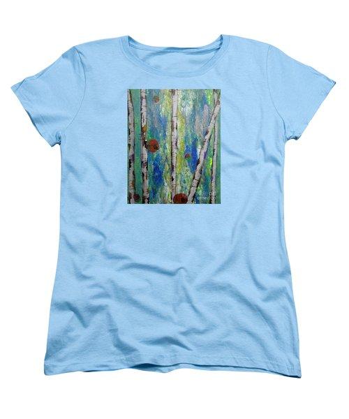 Birch - Lt. Green 4 Women's T-Shirt (Standard Cut) by Jacqueline Athmann