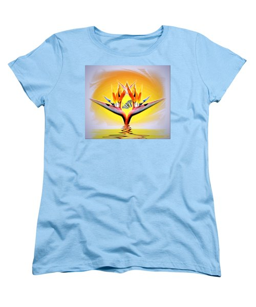 Women's T-Shirt (Standard Cut) featuring the photograph Bird Of Paradise by Joyce Dickens