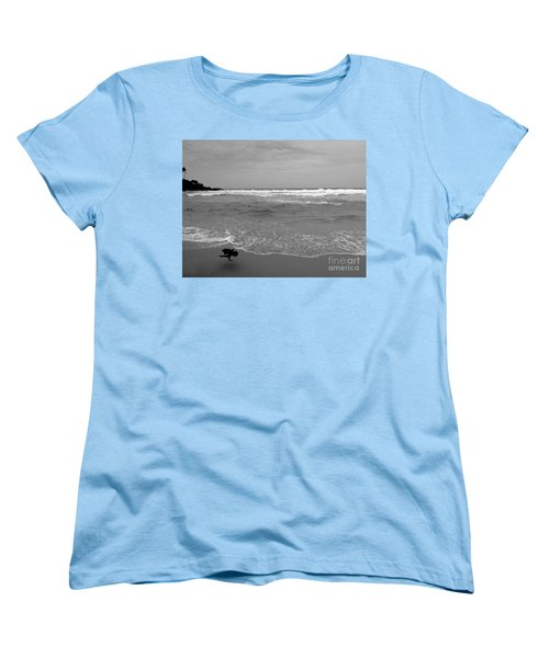Bird On Kovalam Beach Women's T-Shirt (Standard Cut) by Mini Arora