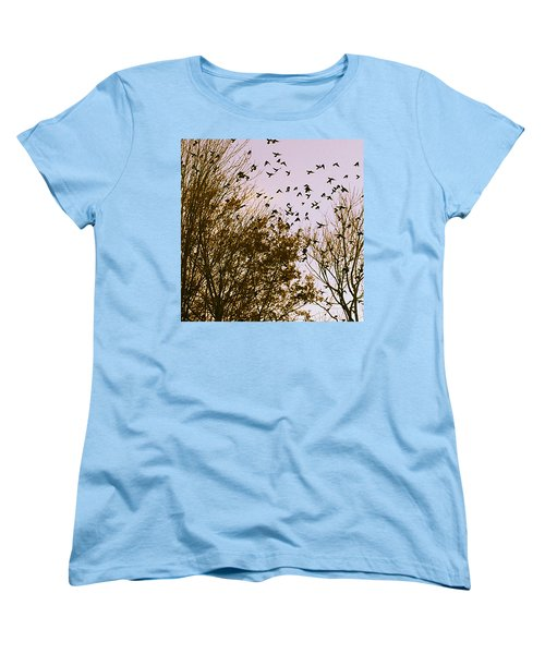 Birds Of A Feather Flock Together Women's T-Shirt (Standard Cut) by Thomasina Durkay