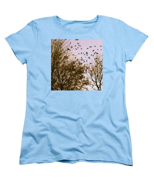 Birds Of A Feather Flock Together Women's T-Shirt (Standard Cut)