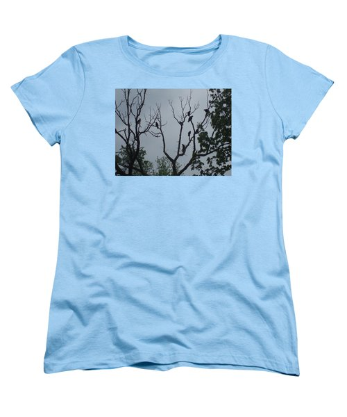 Women's T-Shirt (Standard Cut) featuring the photograph Birds by Fortunate Findings Shirley Dickerson
