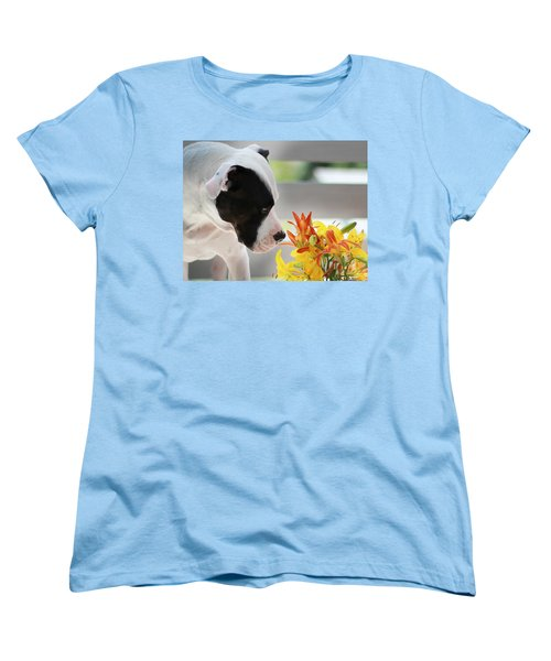 Birthday Bouquet Women's T-Shirt (Standard Cut) by Shelley Neff