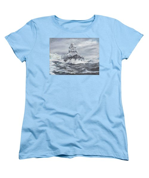 Bismarck Off Greenland Coast  Women's T-Shirt (Standard Cut) by Vincent Alexander Booth
