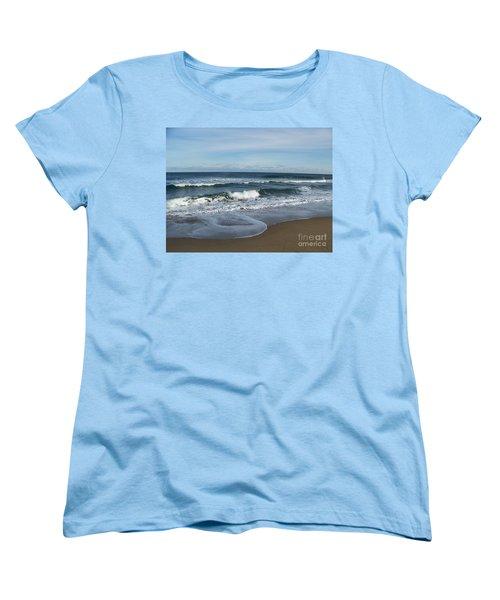 Women's T-Shirt (Standard Cut) featuring the photograph Winter Beach  by Eunice Miller