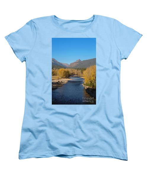 Bitterroot River Fall Women's T-Shirt (Standard Cut) by Joseph J Stevens