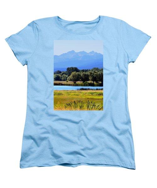 Women's T-Shirt (Standard Cut) featuring the photograph Bitterroot Valley Montana by Joseph J Stevens