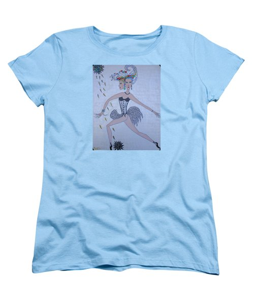 Women's T-Shirt (Standard Cut) featuring the painting Black Dahlia by Marie Schwarzer