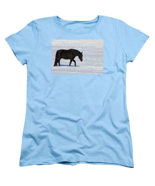 Women's T-Shirt (Standard Cut) featuring the photograph Black Magic by Fiona Kennard