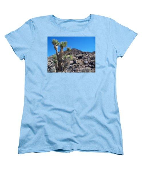 Women's T-Shirt (Standard Cut) featuring the photograph Black Mountain Yucca by Alan Socolik