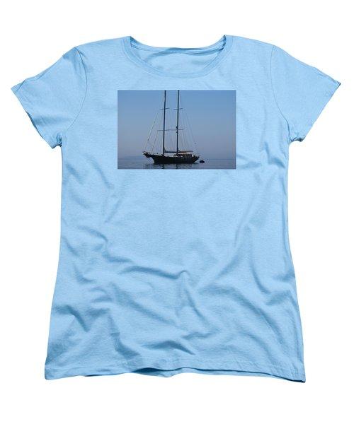 Black Ship Women's T-Shirt (Standard Cut) by George Katechis