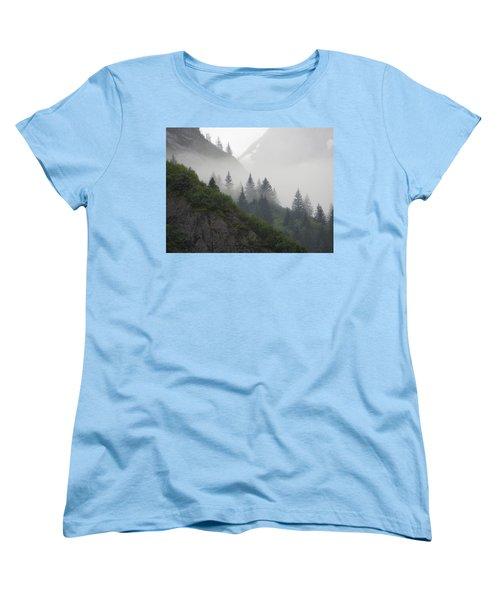 Women's T-Shirt (Standard Cut) featuring the photograph Blanket Of Fog by Jennifer Wheatley Wolf