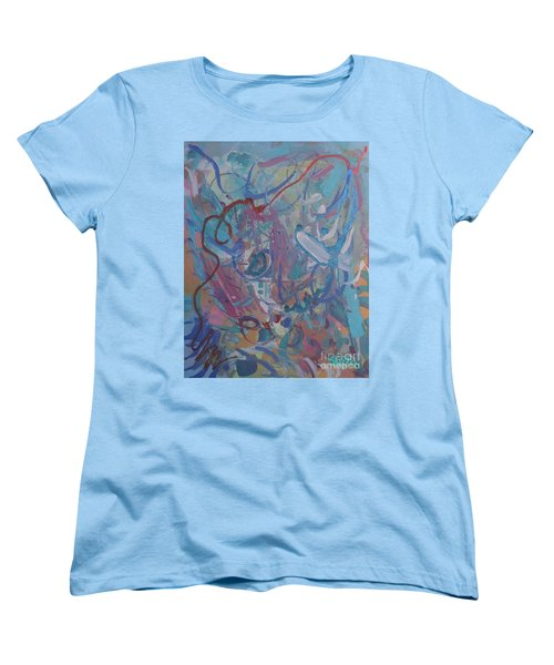 Women's T-Shirt (Standard Cut) featuring the painting Blast by Skipper