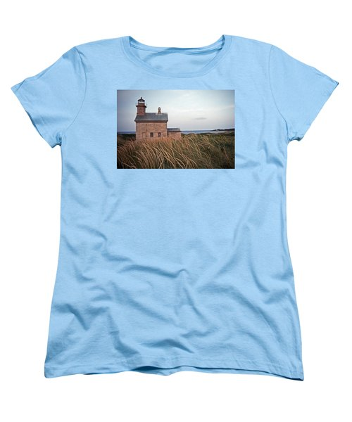 Block Island North West Lighthouse Women's T-Shirt (Standard Cut) by Skip Willits