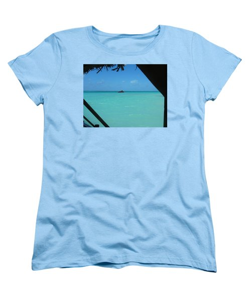 Blue And Green Women's T-Shirt (Standard Cut) by Photographic Arts And Design Studio