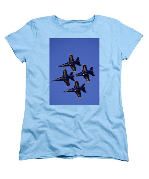 Blue Angels Women's T-Shirt (Standard Cut) by Bill Gallagher