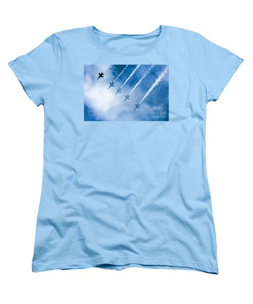 Blue Angels Women's T-Shirt (Standard Cut) by Kate Brown