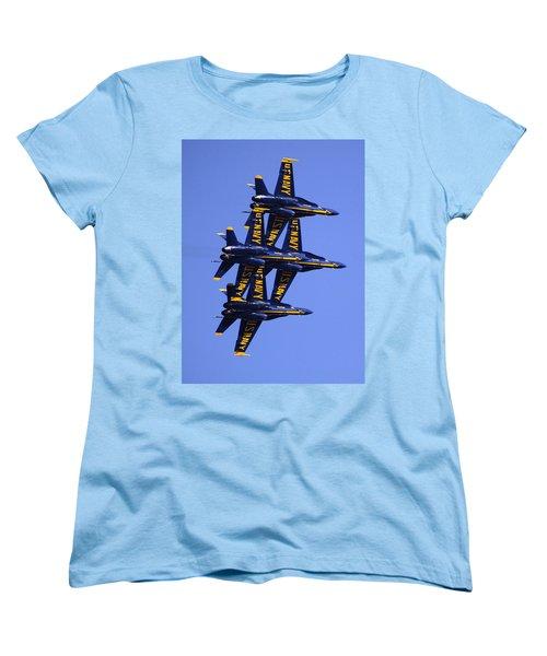 Blue Angels II Women's T-Shirt (Standard Cut) by Bill Gallagher