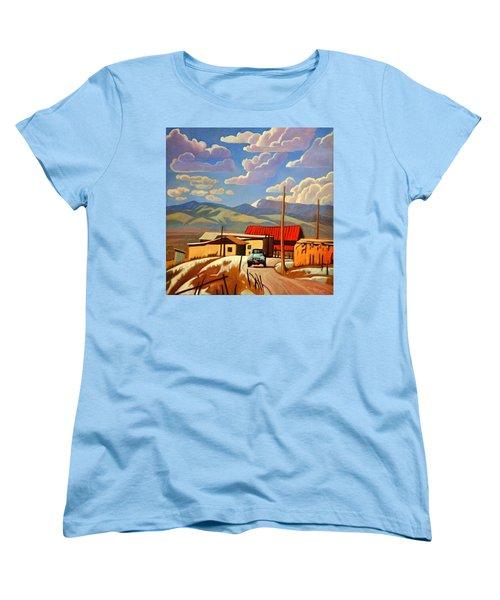 Women's T-Shirt (Standard Cut) featuring the painting Blue Apache by Art James West