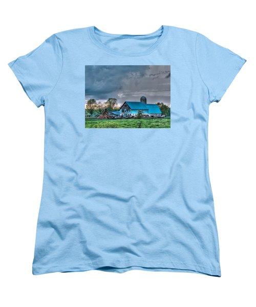 Blue Barn Women's T-Shirt (Standard Cut) by Bianca Nadeau