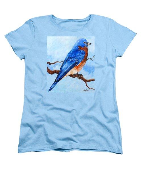Blue Bird Women's T-Shirt (Standard Cut) by Curtiss Shaffer