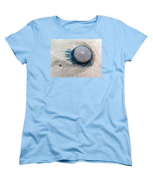 Blue Button #2 Women's T-Shirt (Standard Cut)