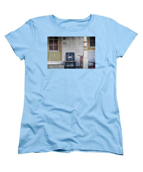Blue Crab Chair Women's T-Shirt (Standard Cut) by Brian Wallace