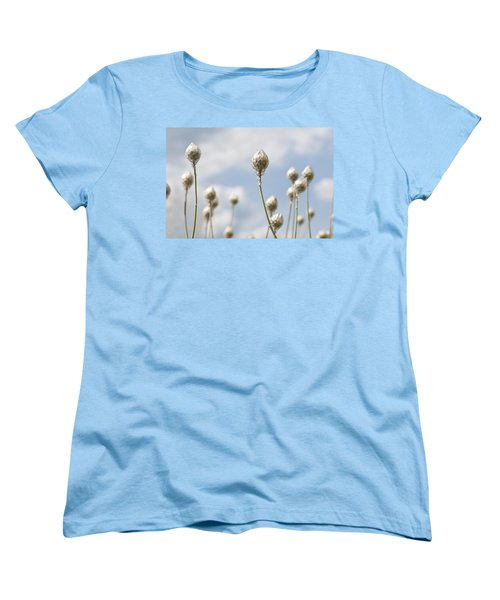 Women's T-Shirt (Standard Cut) featuring the photograph Blue Cupidone by Lana Enderle