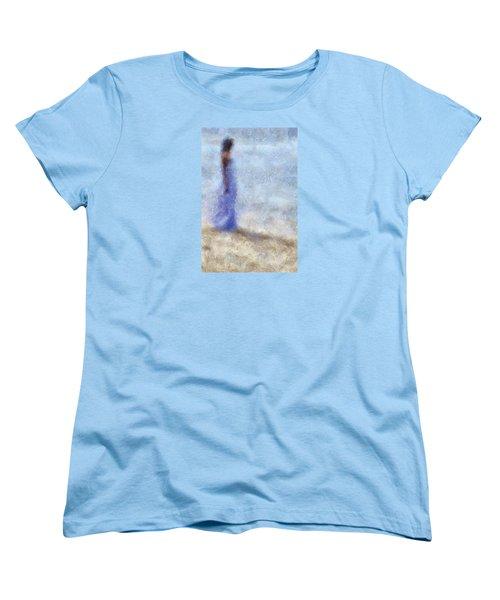 Blue Dream. Impressionism Women's T-Shirt (Standard Cut) by Jenny Rainbow