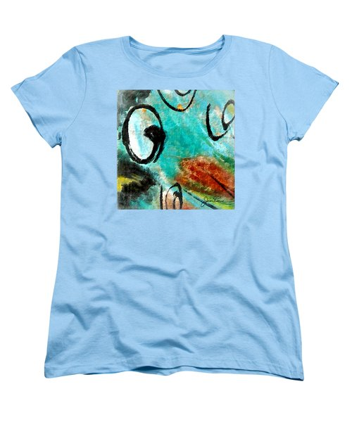 Women's T-Shirt (Standard Cut) featuring the painting Blue Dream by Joan Reese