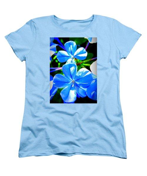 Women's T-Shirt (Standard Cut) featuring the photograph Blue Flower by David Mckinney
