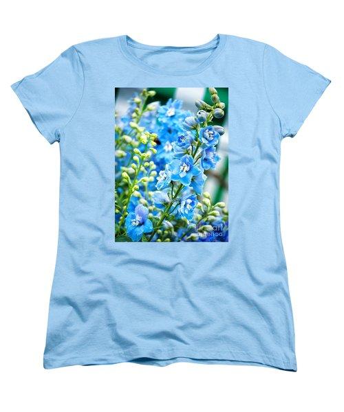 Blue Flowers Women's T-Shirt (Standard Cut) by Antony McAulay