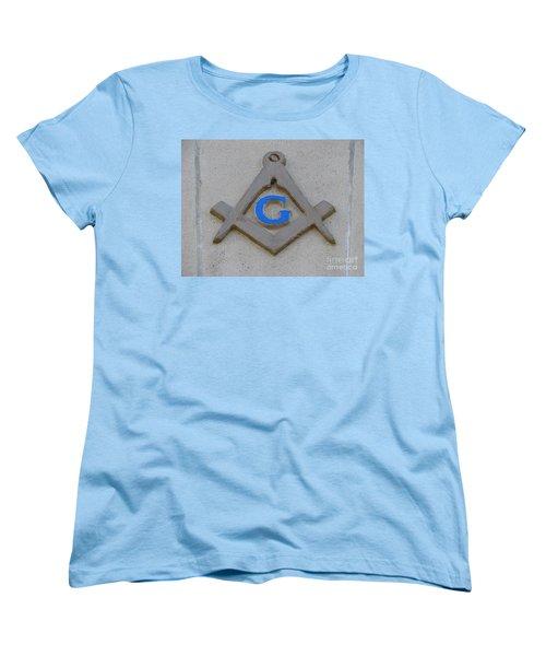 Blue G Women's T-Shirt (Standard Cut) by Michael Krek