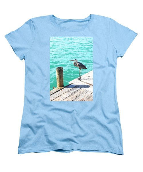 Blue Heron Morning Women's T-Shirt (Standard Cut) by Margie Amberge
