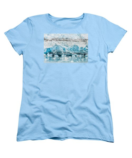 Blue Ice Women's T-Shirt (Standard Cut) by Melinda Ledsome