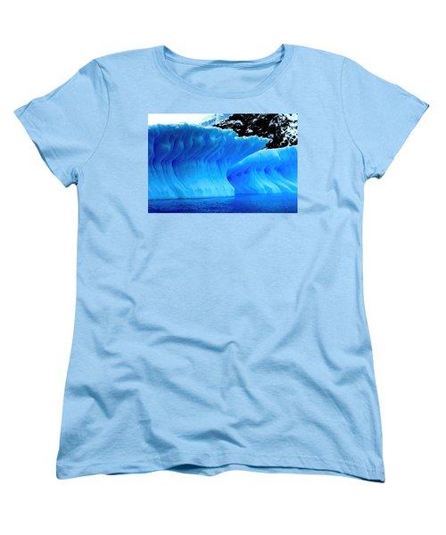 Blue Iceberg Women's T-Shirt (Standard Cut) by Amanda Stadther