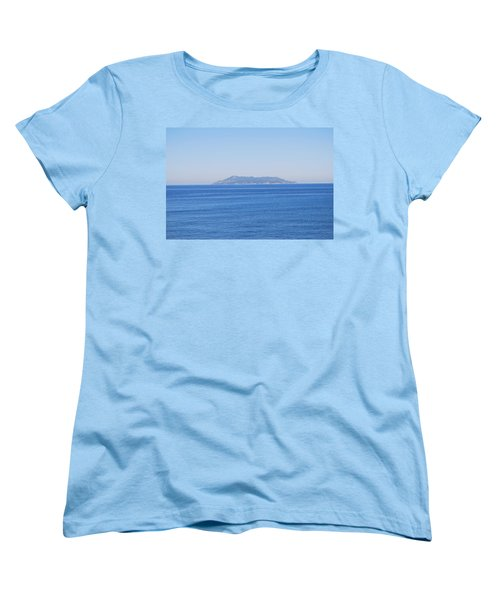 Women's T-Shirt (Standard Cut) featuring the photograph Blue Ionian Sea by George Katechis