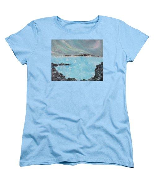 Blue Lagoon Iceland Women's T-Shirt (Standard Cut) by Judith Rhue
