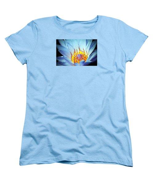 Blue Lotus Women's T-Shirt (Standard Cut) by Cynthia Guinn