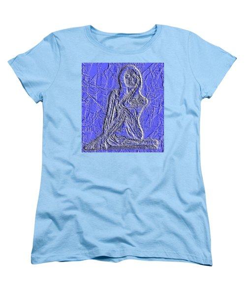 Blue Madonna Women's T-Shirt (Standard Cut)