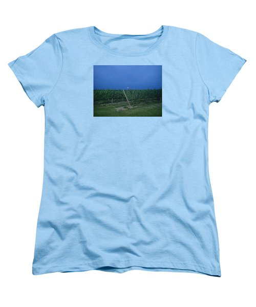 Women's T-Shirt (Standard Cut) featuring the photograph Blue Moon by Robert Nickologianis