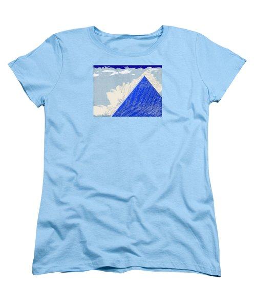 Women's T-Shirt (Standard Cut) featuring the photograph Blue Mountain by Tina M Wenger