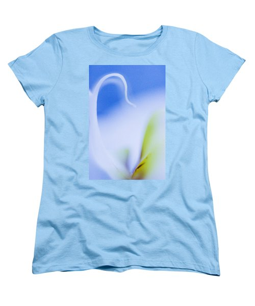 Women's T-Shirt (Standard Cut) featuring the photograph Blue Orchid Abstract by Bradley R Youngberg