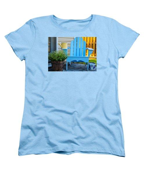 Blue Repose  Women's T-Shirt (Standard Cut) by Mary Ward