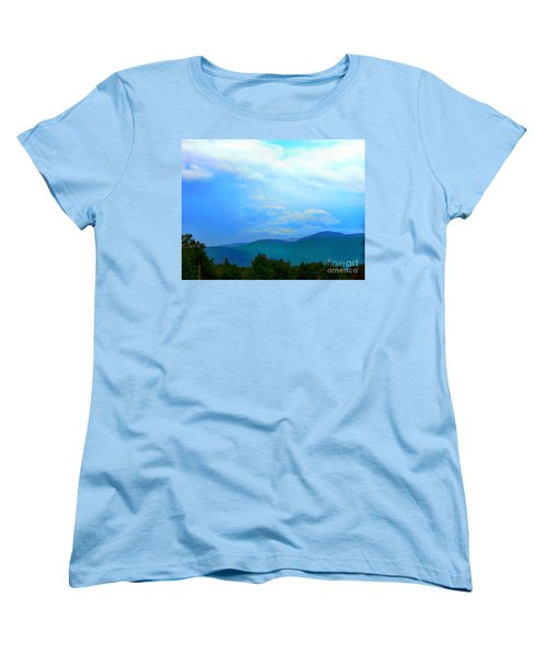 Women's T-Shirt (Standard Cut) featuring the photograph Blue Ridge Mountains by Judy Palkimas