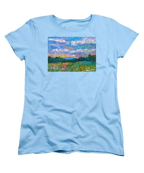 Blue Ridge Wildflowers Women's T-Shirt (Standard Cut) by Kendall Kessler