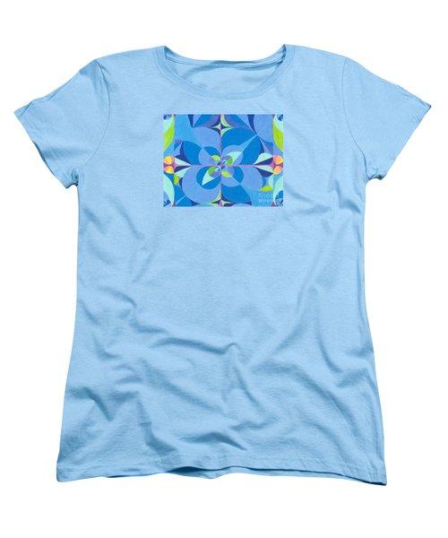 Blue Unity Women's T-Shirt (Standard Cut) by Kim Sy Ok